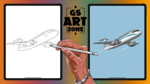How to Draw an Airplane